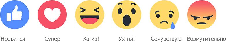 Накрутка эмоций Facebook